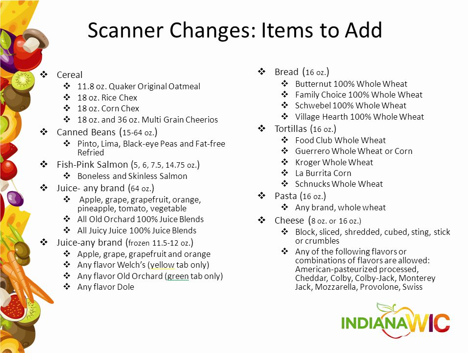 Scanner Changes: Items to Add