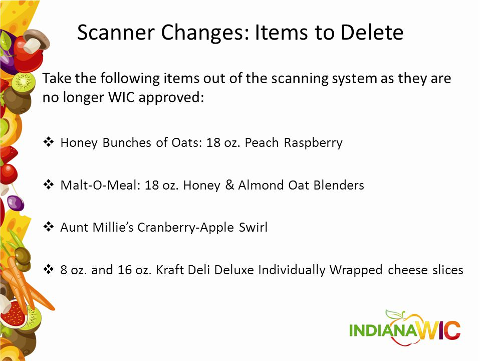 Scanner Changes: Items to Delete