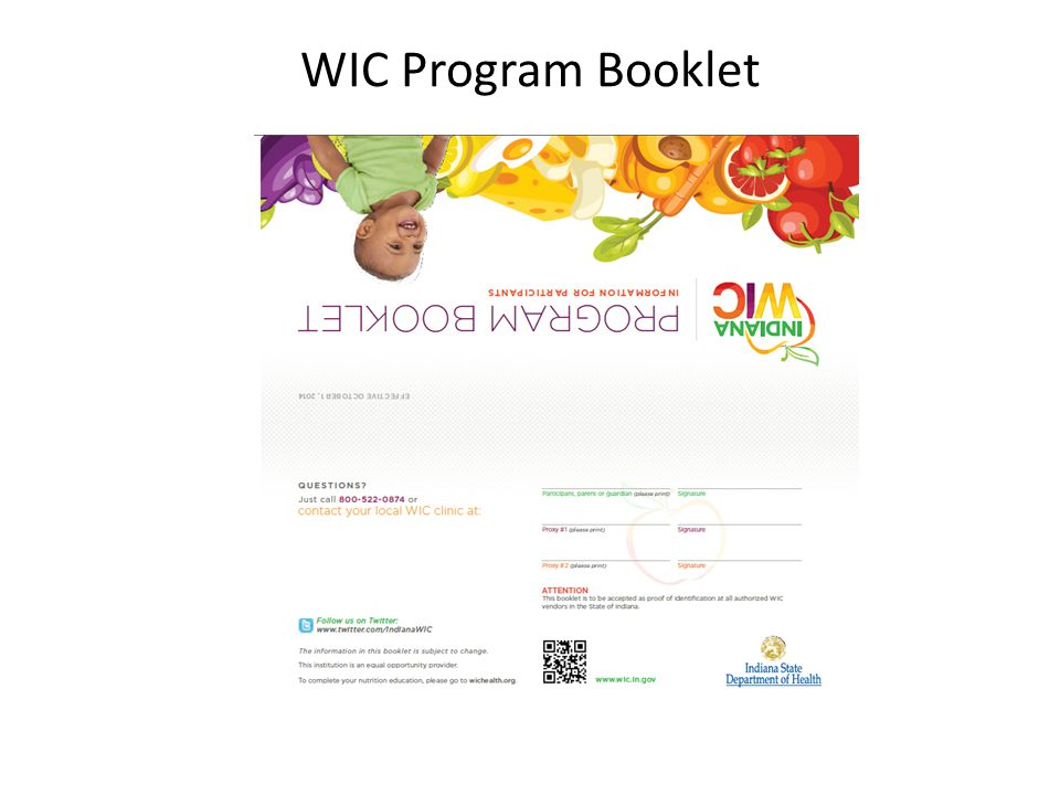 WIC Program Booklet