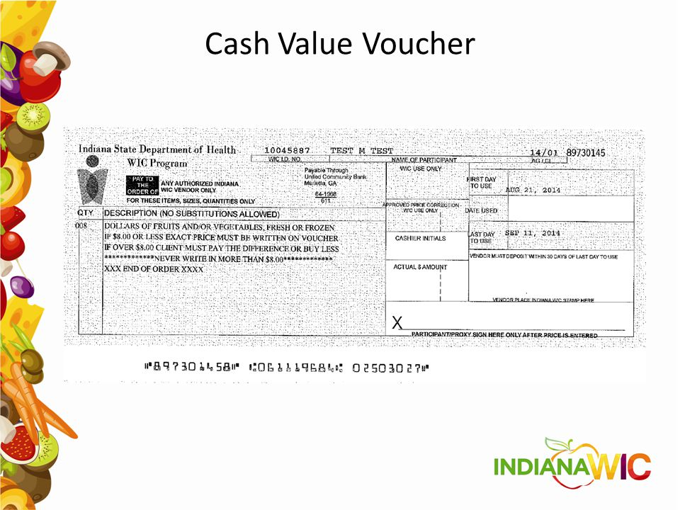 Cash Value Voucher