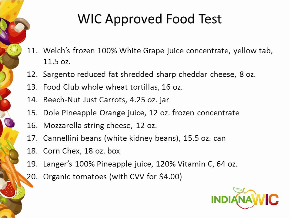 WIC Approved Food Test Welch's frozen 100% White Grape juice concentrate, yellow tab, 11.5 oz.