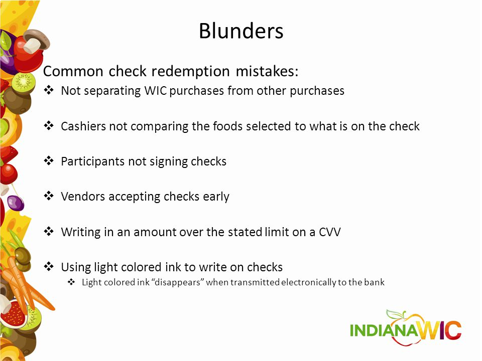 Blunders Common check redemption mistakes: