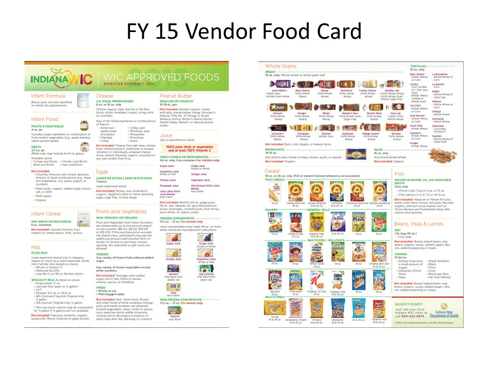 FY 15 Vendor Food Card