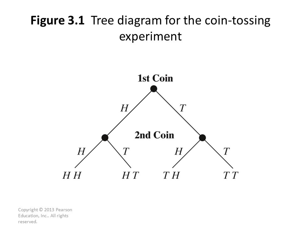 Figure 3.1 Tree diagram for the coin-tossing experiment