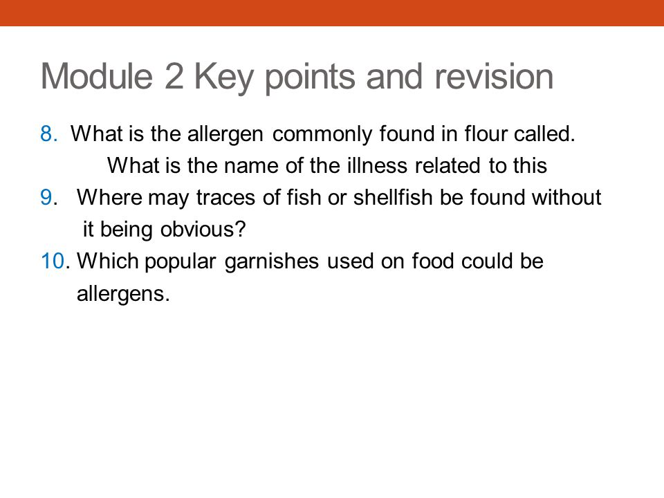 Module 2 Key points and revision