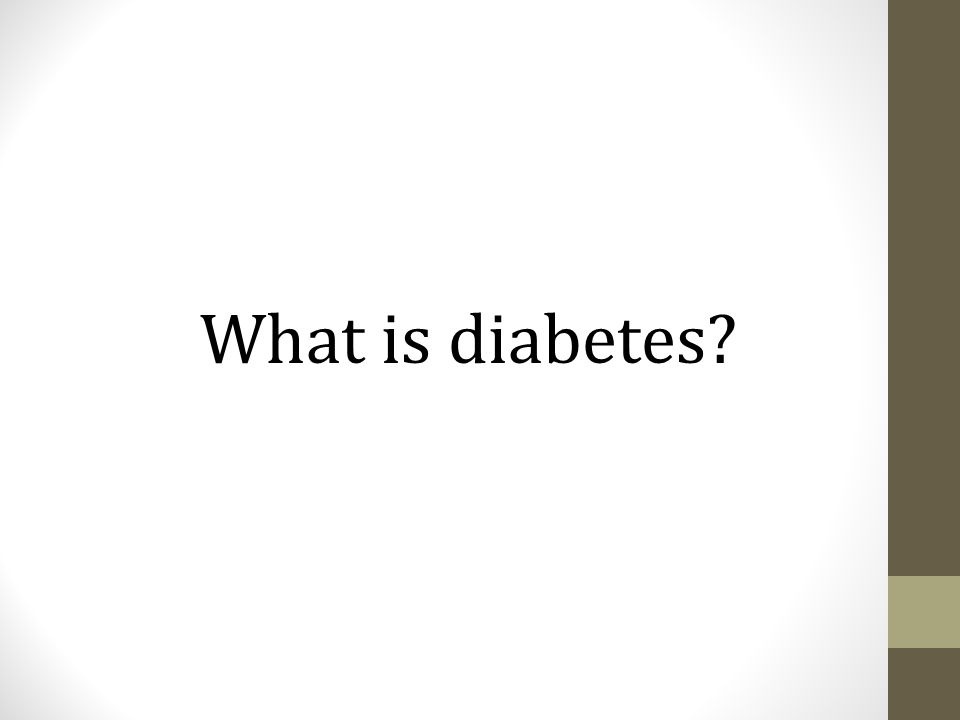 What is diabetes Diabetes is a disease that affects the way your body uses the food you eat for energy.