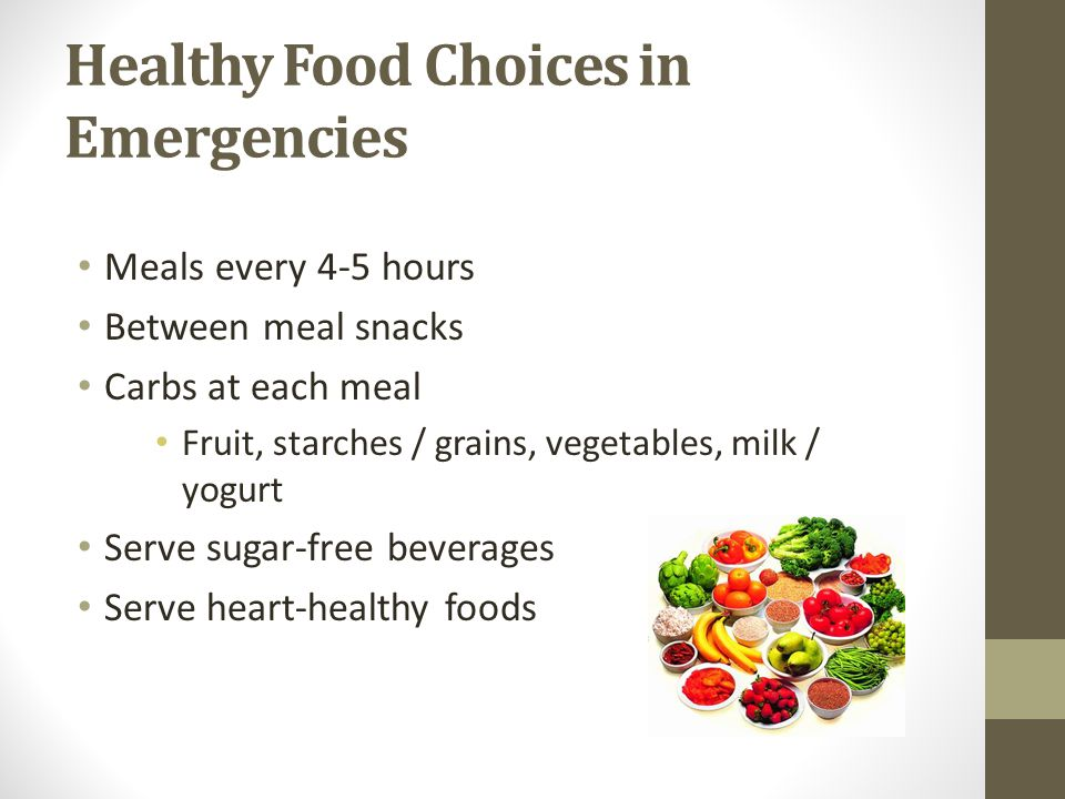 Healthy Food Choices in Emergencies