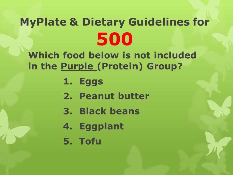 MyPlate & Dietary Guidelines for 500