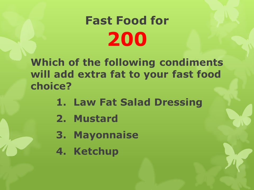 Fast Food for 200