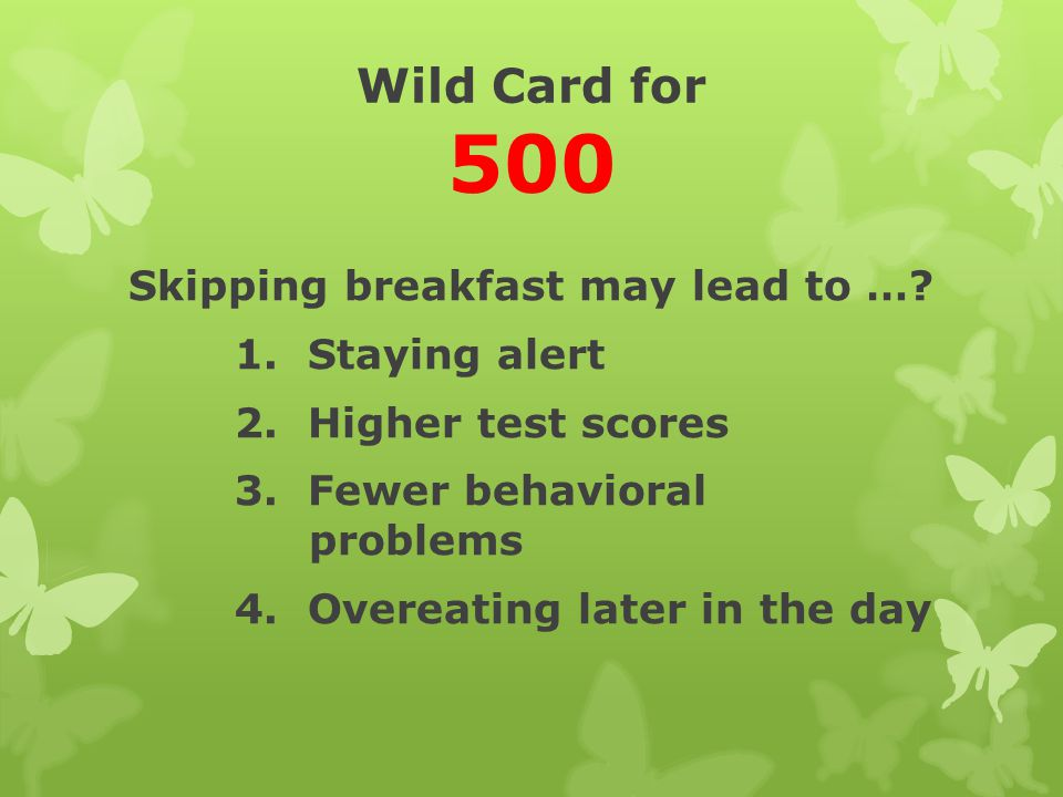Wild Card for 500
