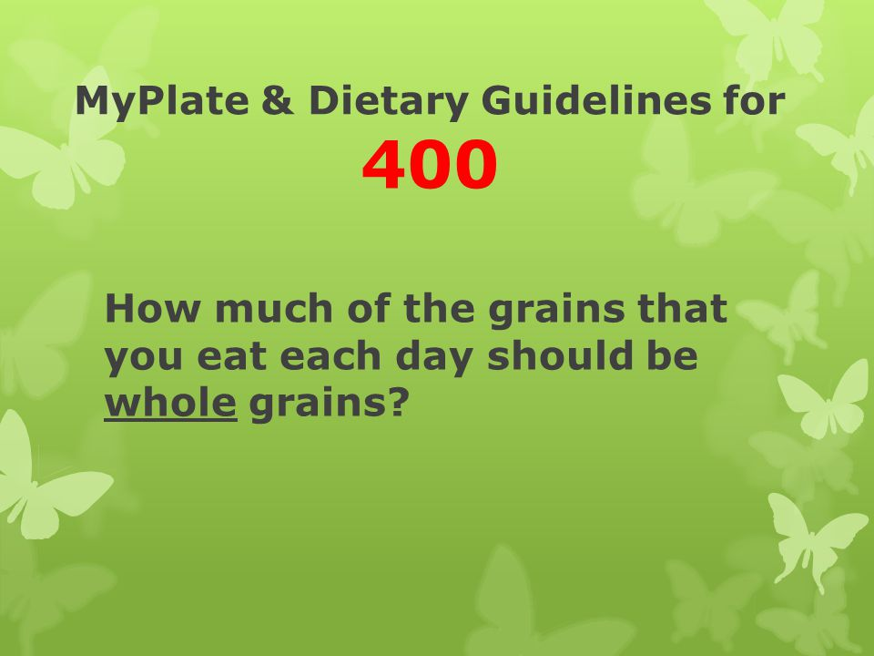 MyPlate & Dietary Guidelines for 400