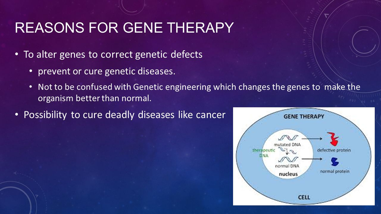 Reasons for Gene Therapy