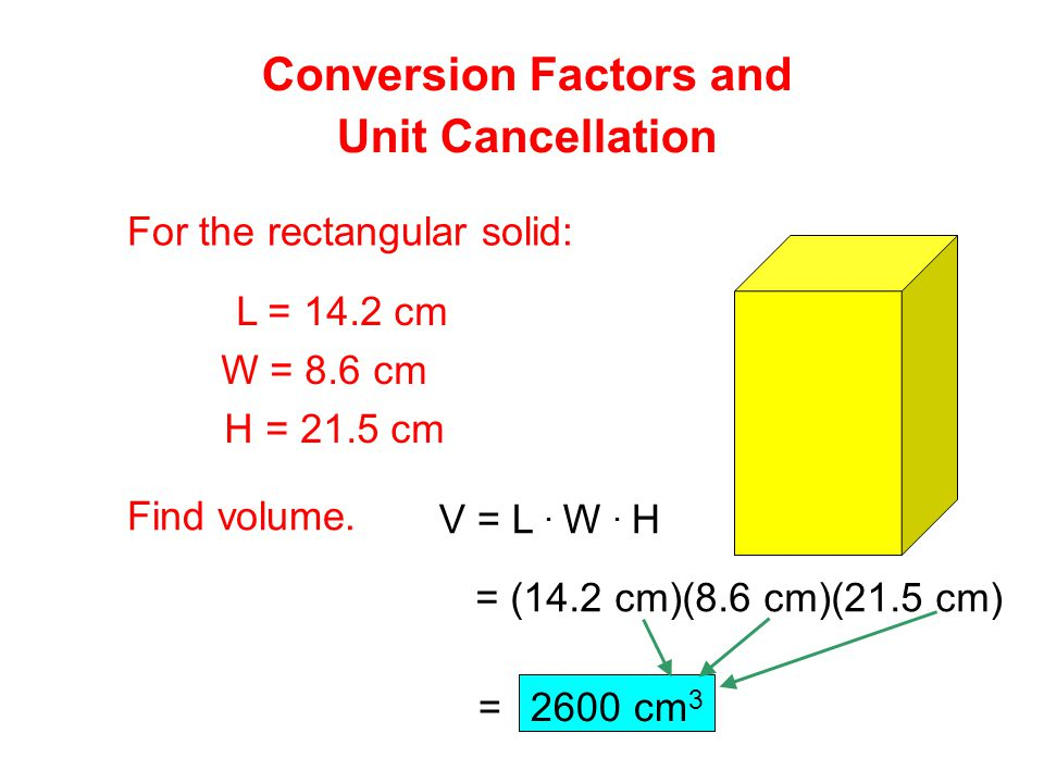 Conversion Factors and