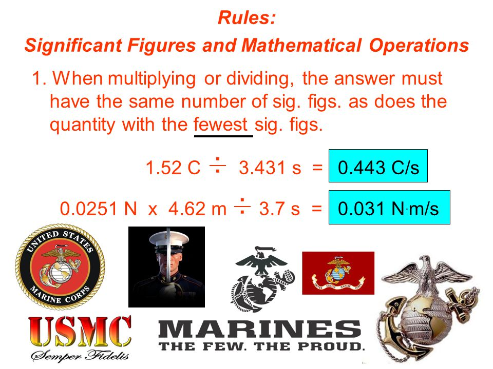 Significant Figures and Mathematical Operations