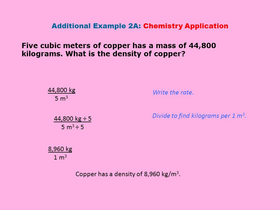 Additional Example 2A: Chemistry Application