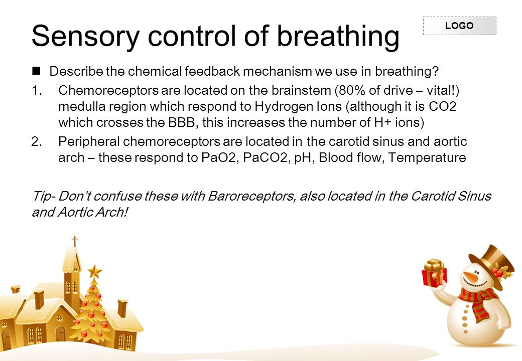 Sensory control of breathing