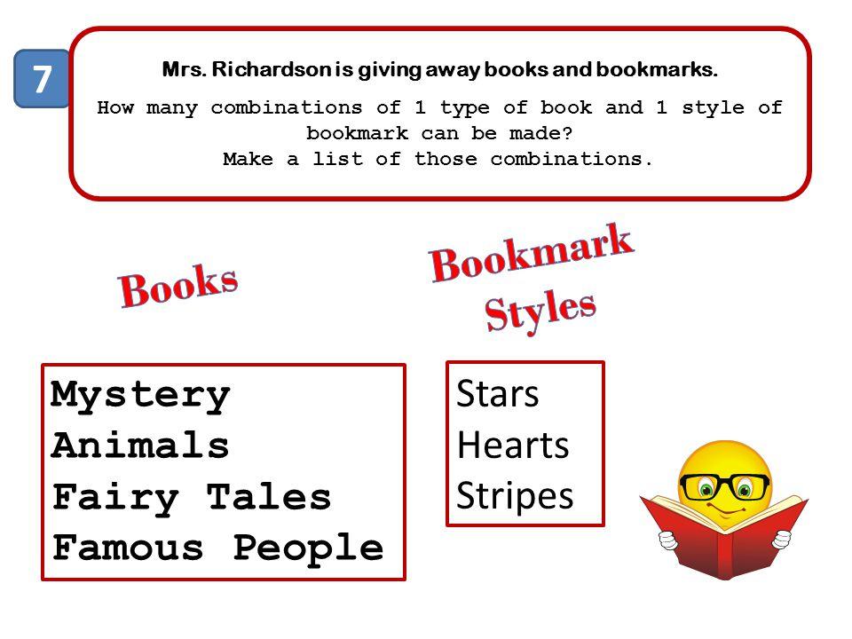 Bookmark Styles Books 7 Mystery Stars Animals Hearts Fairy Tales