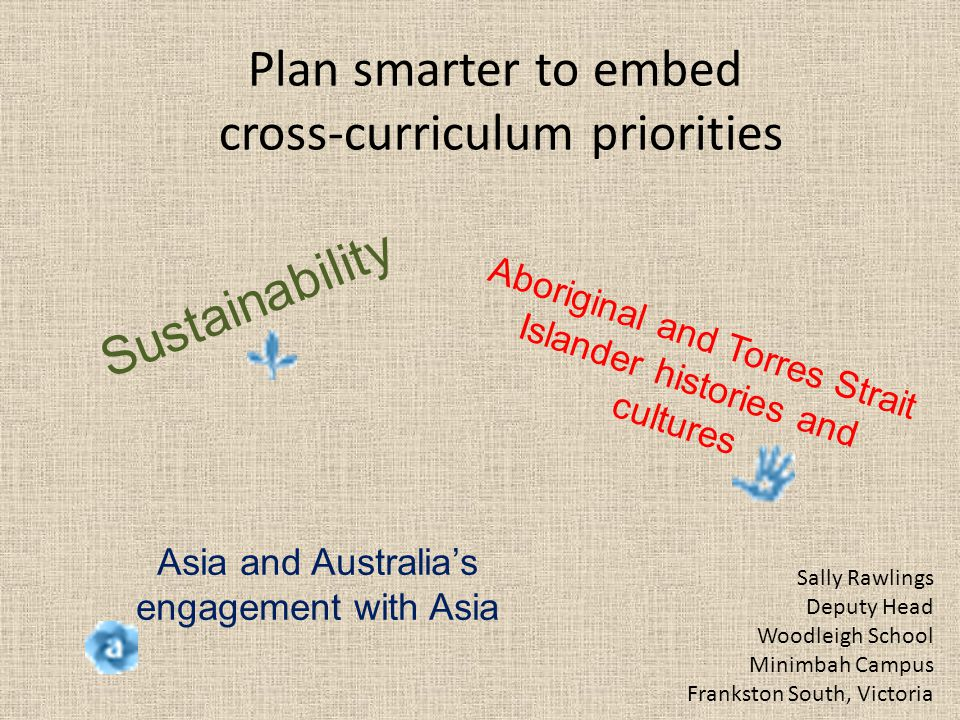 Plan smarter to embed cross-curriculum priorities