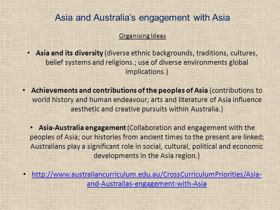 Asia and Australia's engagement with Asia