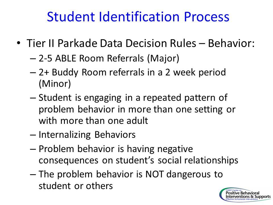 Student Identification Process