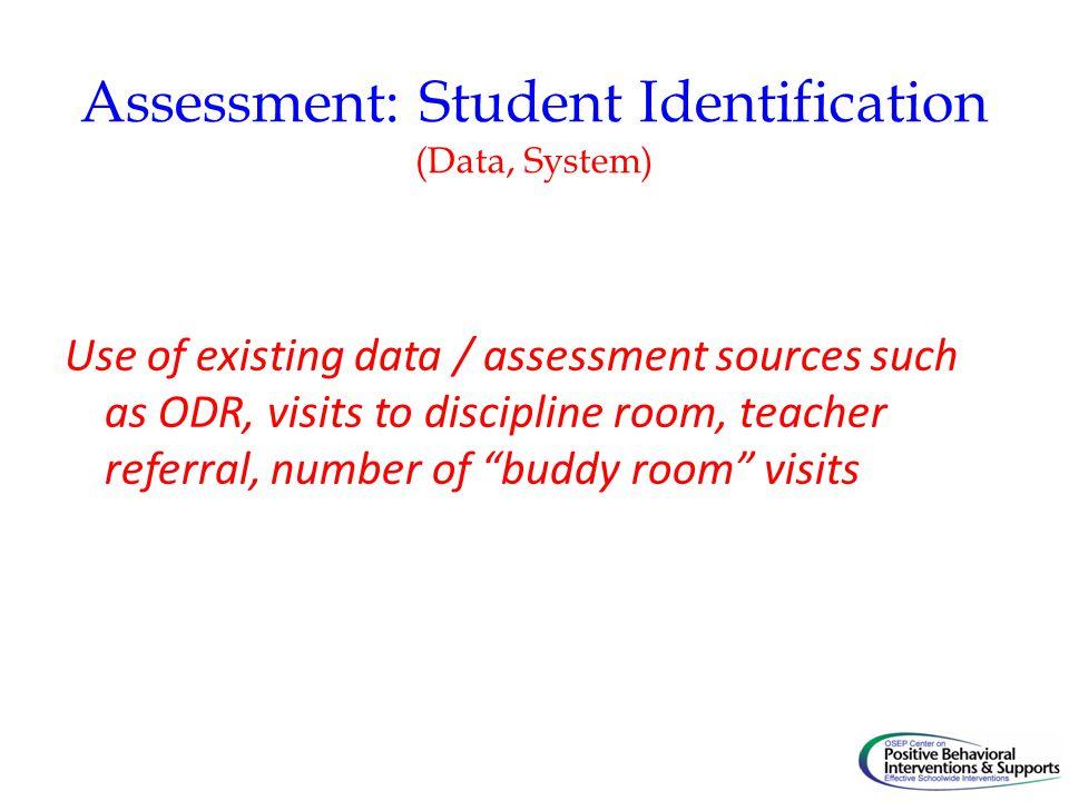 Assessment: Student Identification (Data, System)