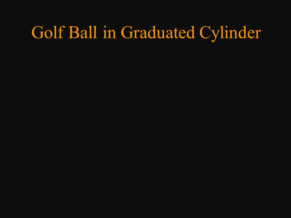 Golf Ball in Graduated Cylinder