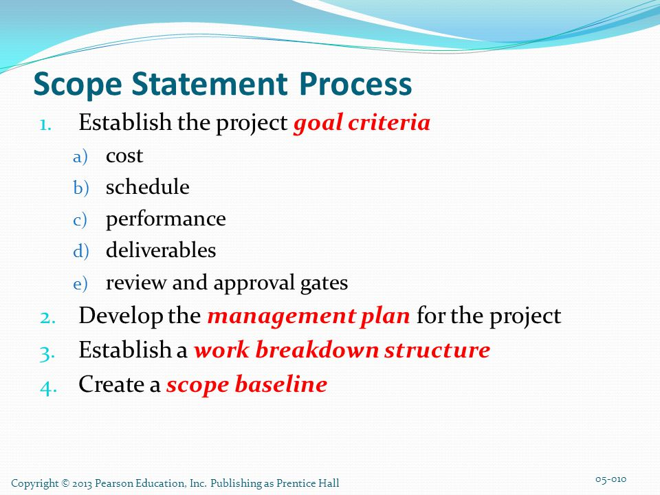 Scope Statement Process