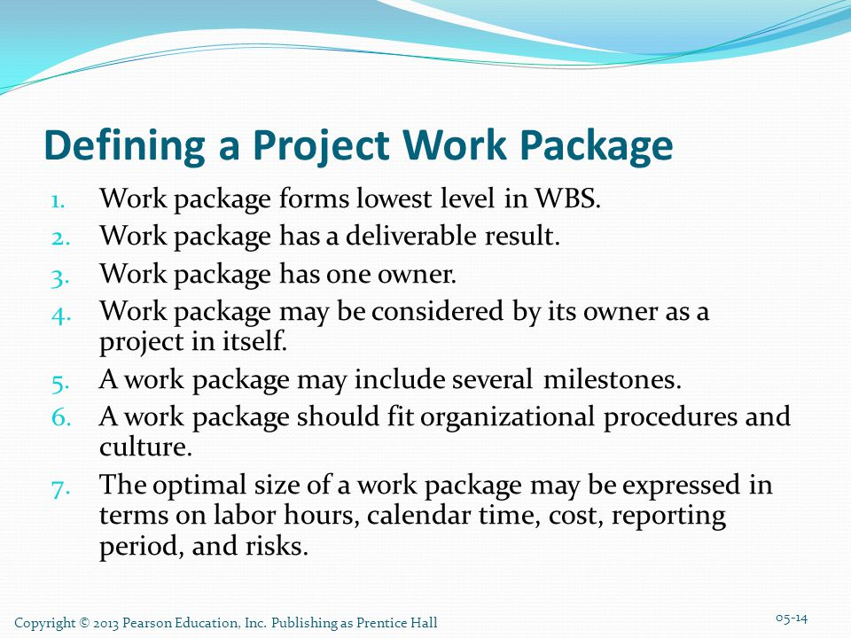 Defining a Project Work Package