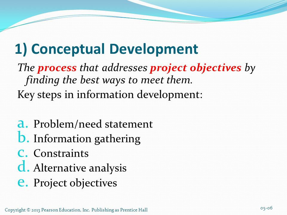 1) Conceptual Development