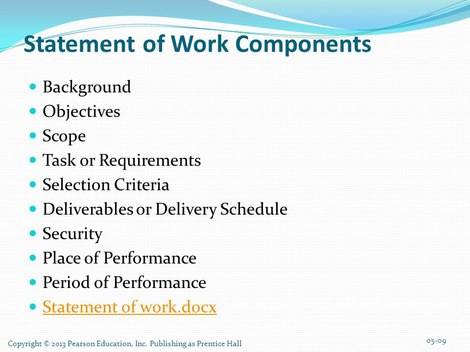 Statement of Work Components