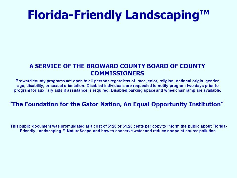 Florida-Friendly Landscaping™