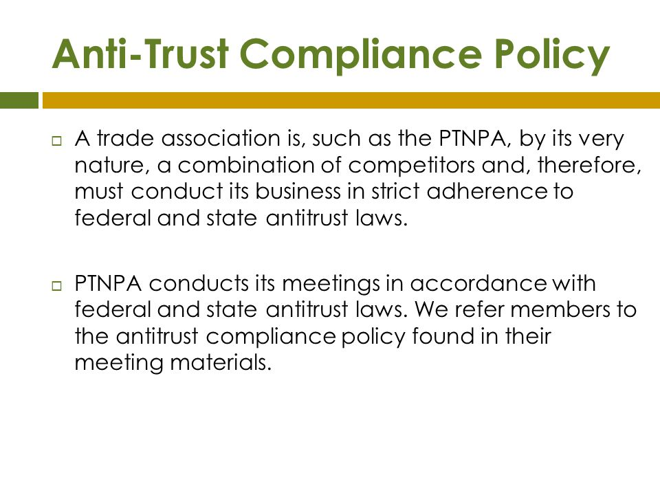 Anti-Trust Compliance Policy