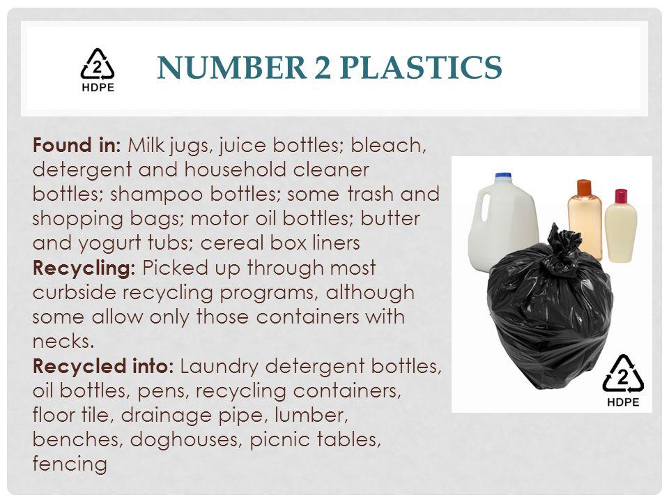 Number 2 Plastics
