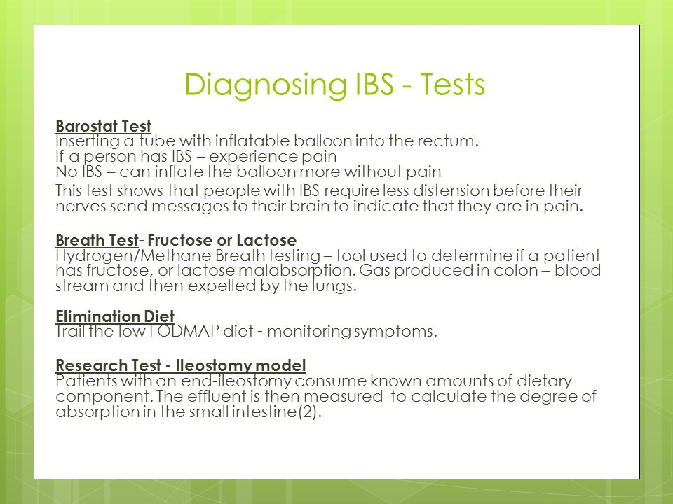 Diagnosing IBS - Tests