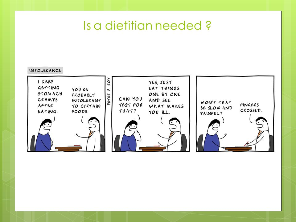 Is a dietitian needed