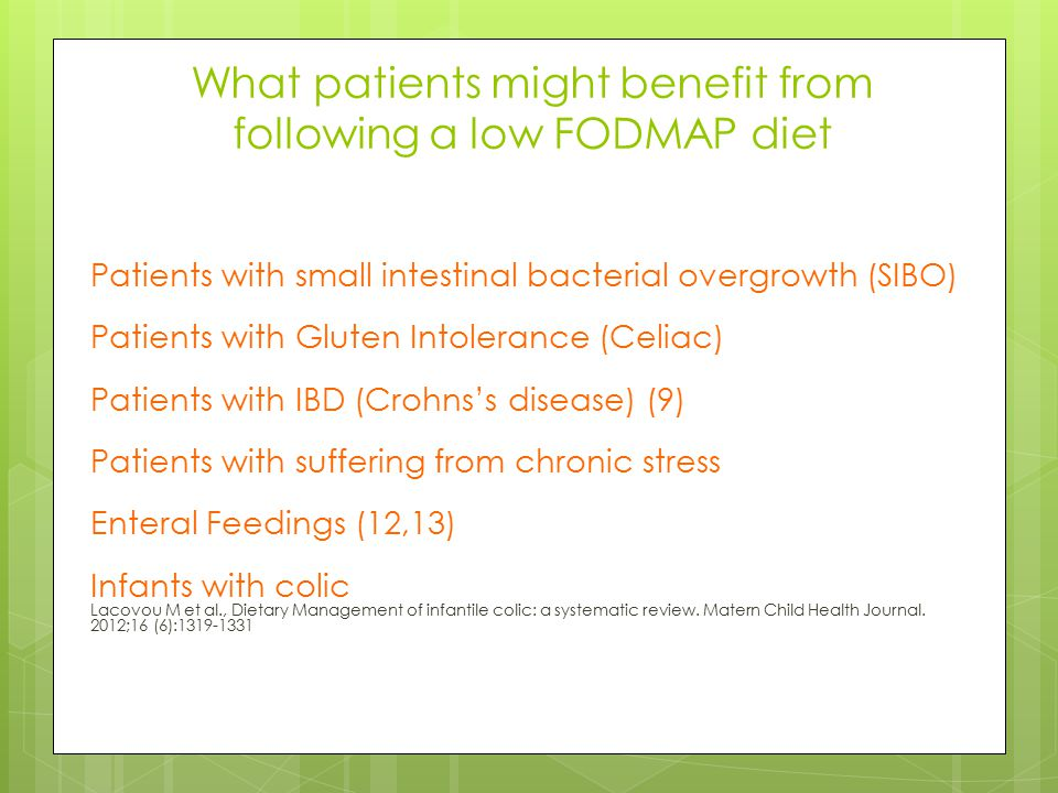 What patients might benefit from following a low FODMAP diet