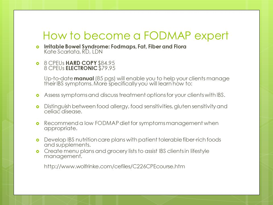 How to become a FODMAP expert