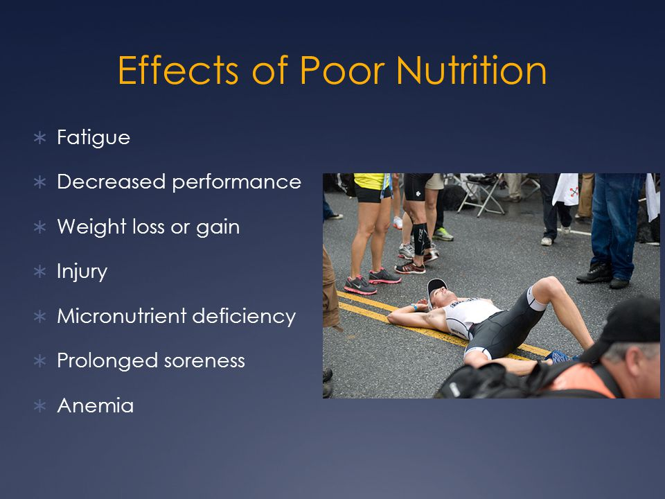 Effects of Poor Nutrition