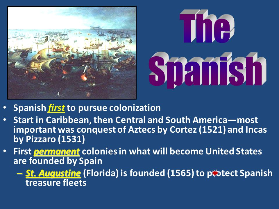 The Spanish Spanish first to pursue colonization