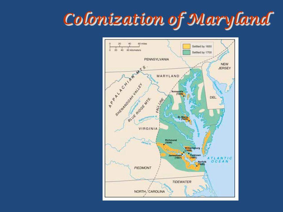 Colonization of Maryland