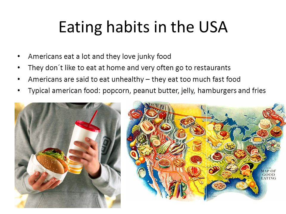 american eating habits essay American modernism, much like the modernism movement in general, is a trend american eating habits essay of philosophical thought arising from the widespread changes in culture and society in the age of modernity learning and food preferences classical conditioning (flavour-flavour learning) as already mentioned, we have an innate preference.