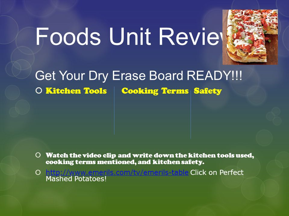 Foods Unit Review Get Your Dry Erase Board READY!!!