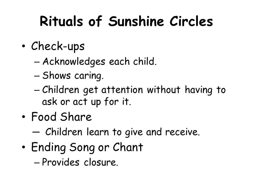 Rituals of Sunshine Circles