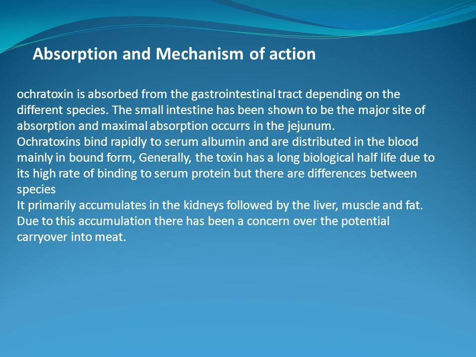 Absorption and Mechanism of action