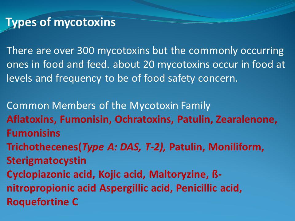 Types of mycotoxins