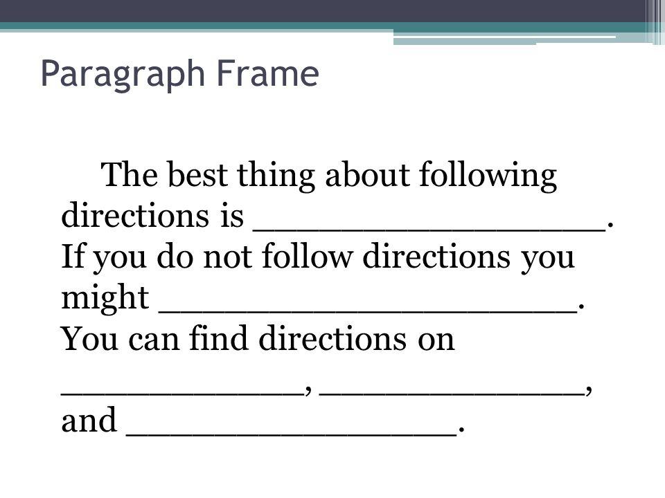Paragraph Frame