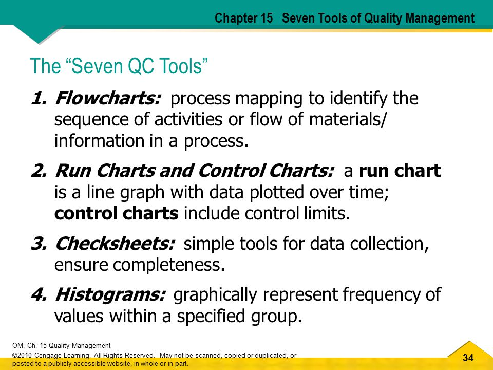 Chapter 15 Seven Tools of Quality Management