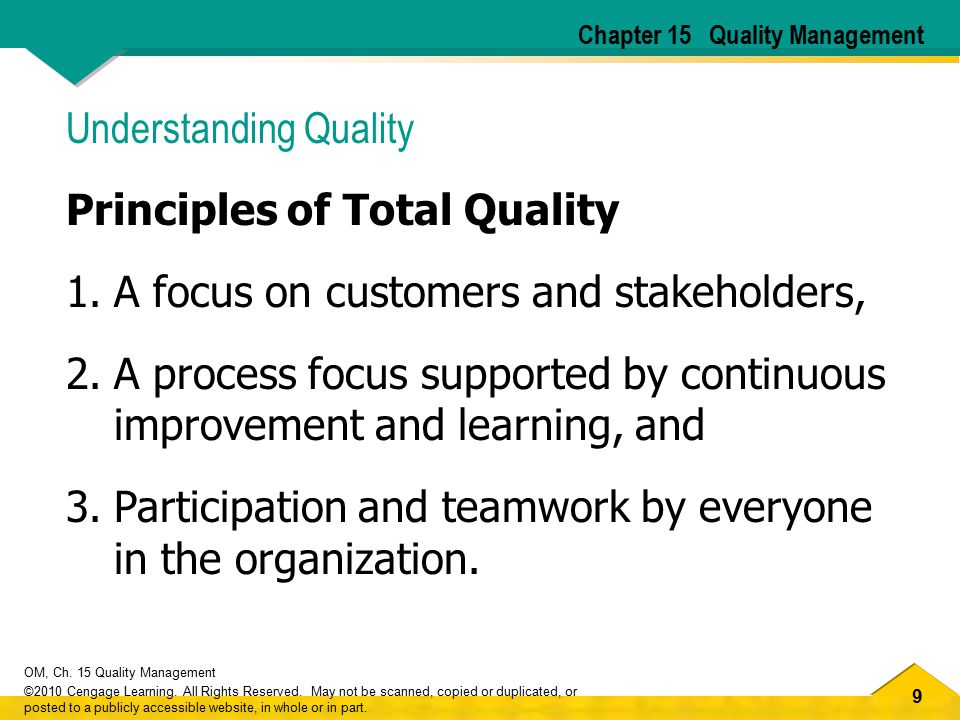 Understanding Quality Principles of Total Quality