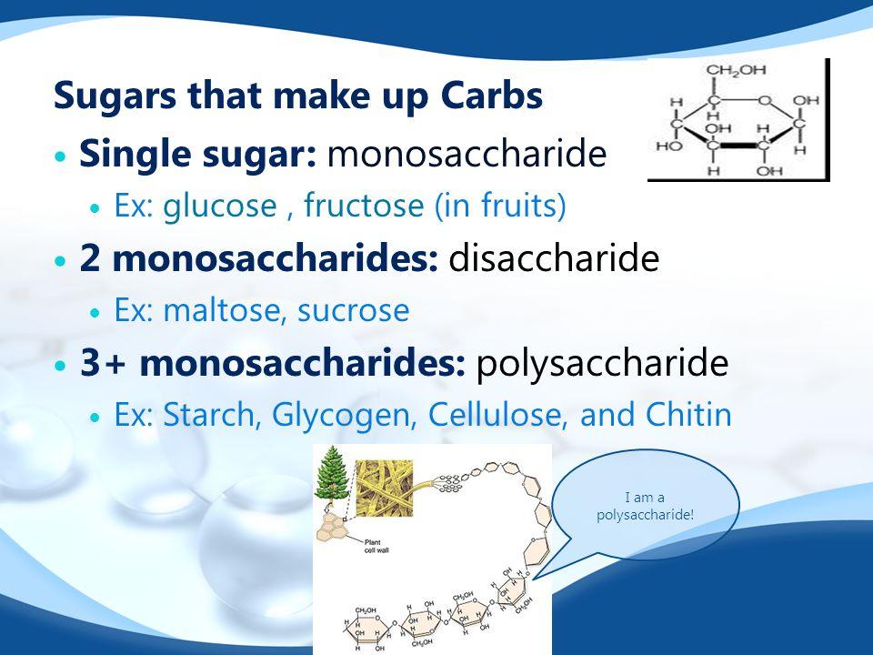 Sugars that make up Carbs
