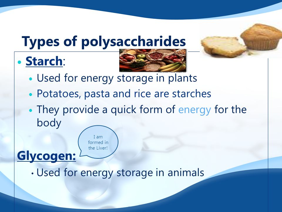 Types of polysaccharides